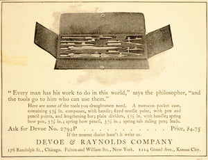 1905 Vintage Ad Devoe Raynolds Tool Case Set No. 2794P - ORIGINAL OLD5