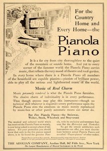 1910 Ad Aeolian Pianola Piano Player Lady Pianist Music - ORIGINAL OLD6