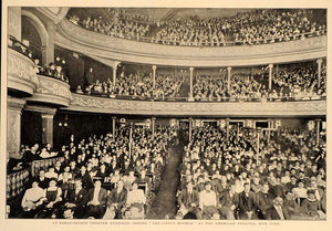 1904 American Theatre NYC Play Audience Balcony Print ORIGINAL HISTORIC OLD9
