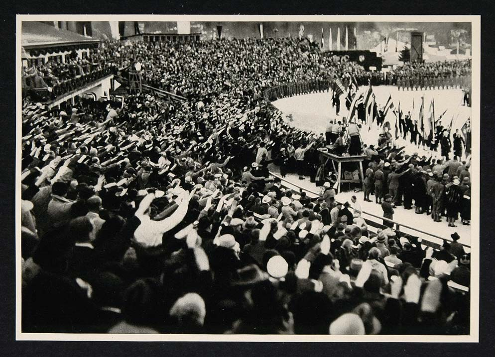 1936 Winter Olympics Closing Ceremony Stadium Print - ORIGINAL HISTORIC IMAGE