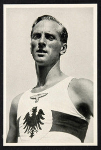 1936 Summer Olympics Erwin Wegner German Runner Print ORIGINAL HISTORIC IMAGE