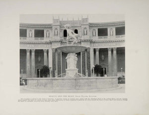 1915 Panama Pacific Exposition Beauty Beast Fountain - ORIGINAL HISTORIC IMAGE