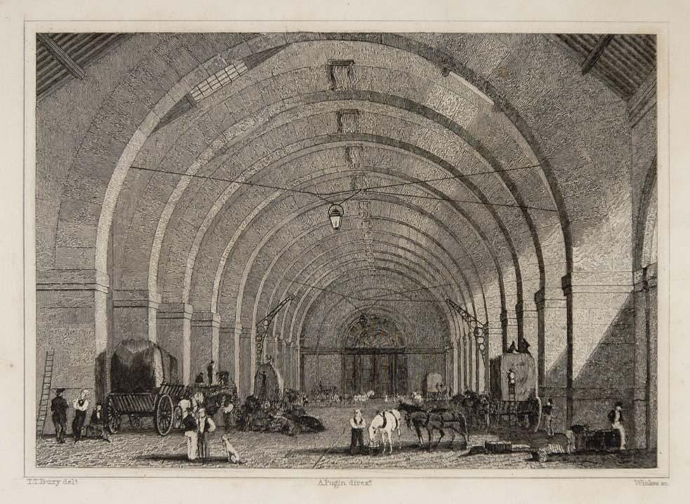 1831 Octroi General Tax Building Paris Steel Engraving - ORIGINAL PARIS2