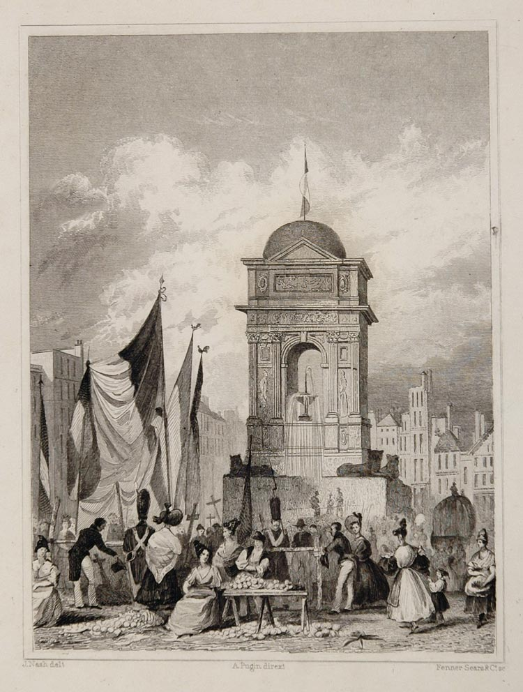 1831 Tombeau Tomb 30 July Revolution Paris Engraving - ORIGINAL PARIS2
