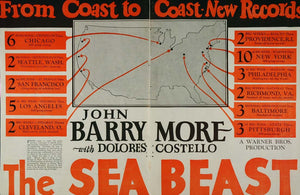 1926 Ad Sea Beast Silent Film John Barrymore Warner Movie Dolores Costello PAT1