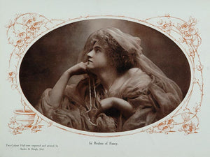 1910 In Realms of Fancy Woman Pearls Photo Image Print - ORIGINAL