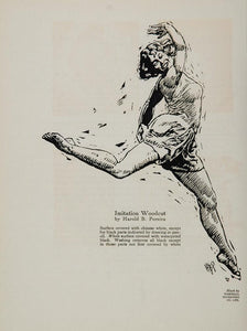1929 Woman Dancer Harold B. Pereira Woodcut Print - ORIGINAL