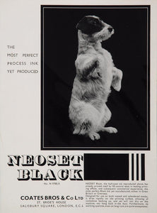 1934 Ad Coates Bros. Neoset Black Printing Ink Dog - ORIGINAL ADVERTISING