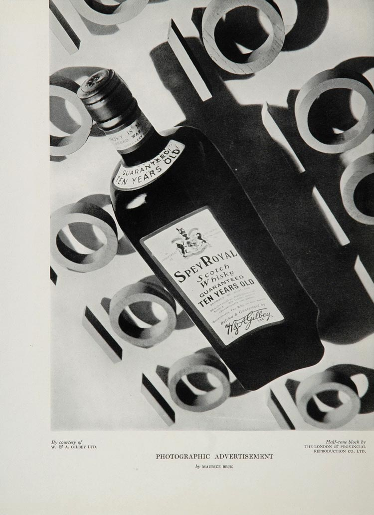 1934 Ad Spey Royal Scotch Whiskey Maurice Beck Gilbey - ORIGINAL ADVERTISING
