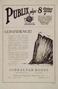 1925 Ad Publix Red Seal Distributors Gibraltar Boxes - ORIGINAL ADVERTISING