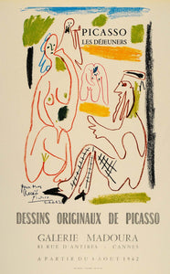 1971 Print Picasso Dejeuners Luncheons Galerie Madoura - ORIGINAL PIC3