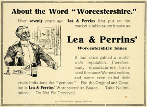 1905 Ad Lea Perrins Worcestershire Sauce Dinner Food - ORIGINAL ADVERTISING PM2