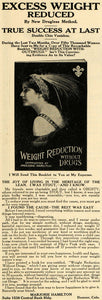 1911 Ad Weight Reduction Marjorie Hamilton Denver Drug - ORIGINAL PM2