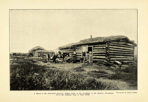 1907 Print Shack Edmonton District Farmhouse Horse Farm ORIGINAL HISTORIC PM2