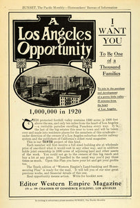 1912 Ad Los Angeles Chamber Commerce Western Empire Rural Magazine Real PM3