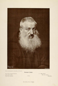 1897 Print Portrait Study Old Man White Beard Monk - ORIGINAL HISTORIC PNR5