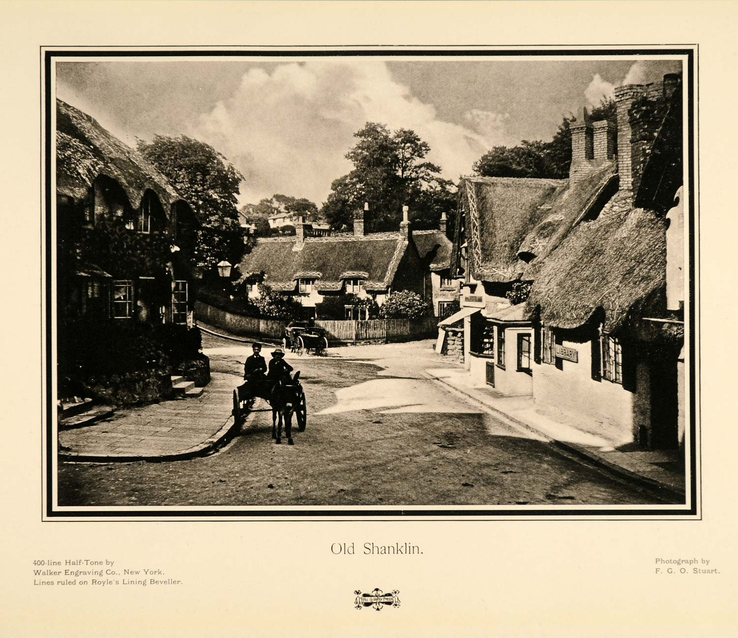 1905 Print Shanklin Villlage Isle of Wight England Town Horse Carriage F PNR8
