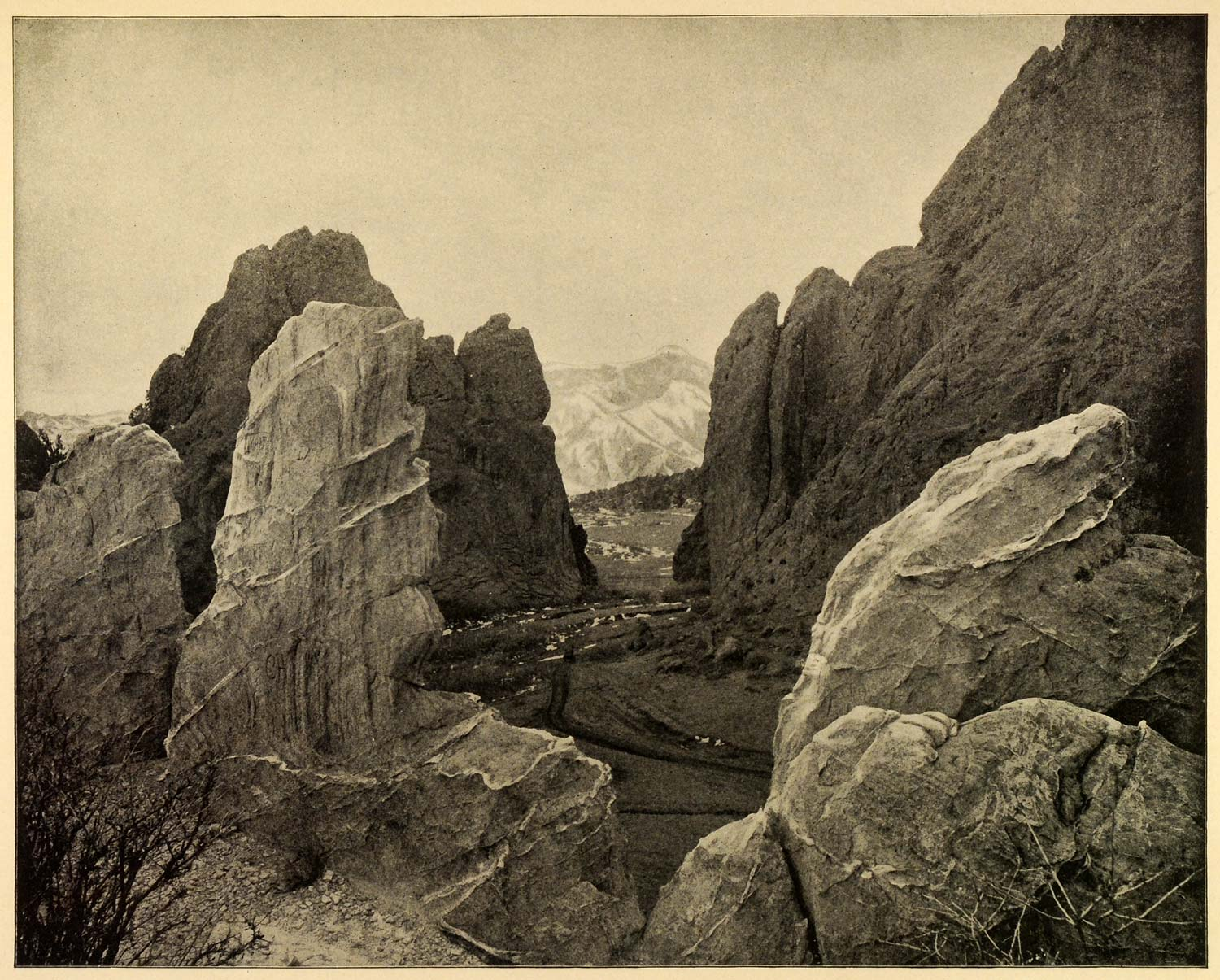 1899 Print Garden Gods Natural National Park Colorado Rock Formation PPB1