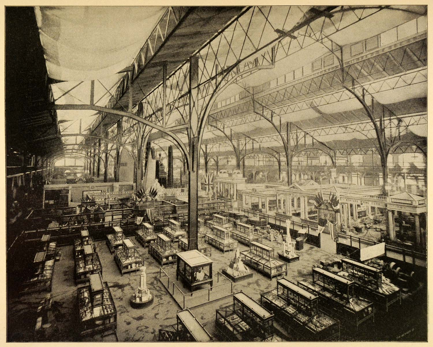1899 Print Interior Mining Building 1893 Columbia Exposition Chicago World PPB1