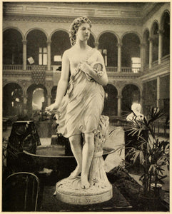 1899 Print Virgin West Statue Womans Building 1893 Columbian Chicago Worlds PPB1
