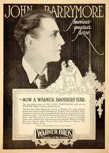 1925 Ad John Barrymore Warner Bros Actor Sea Beast Movie Film Production PPM1 - Period Paper