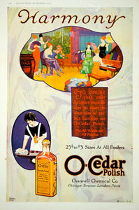 1919 Ad Vintage O-Cedar Polish Furniture Channell Chemical Music Party EW Stoltz