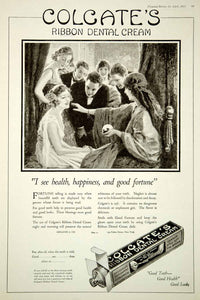 1921 Ad Colgate's Ribbon Dental Cream Toothpaste Fortune Teller Crystal Ball