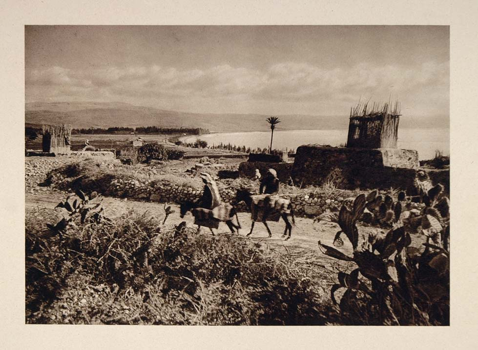 1926 Magdala Sea of Galilee Lake Tiberias Gennesaret - ORIGINAL PHOTOGRAVURE PS1