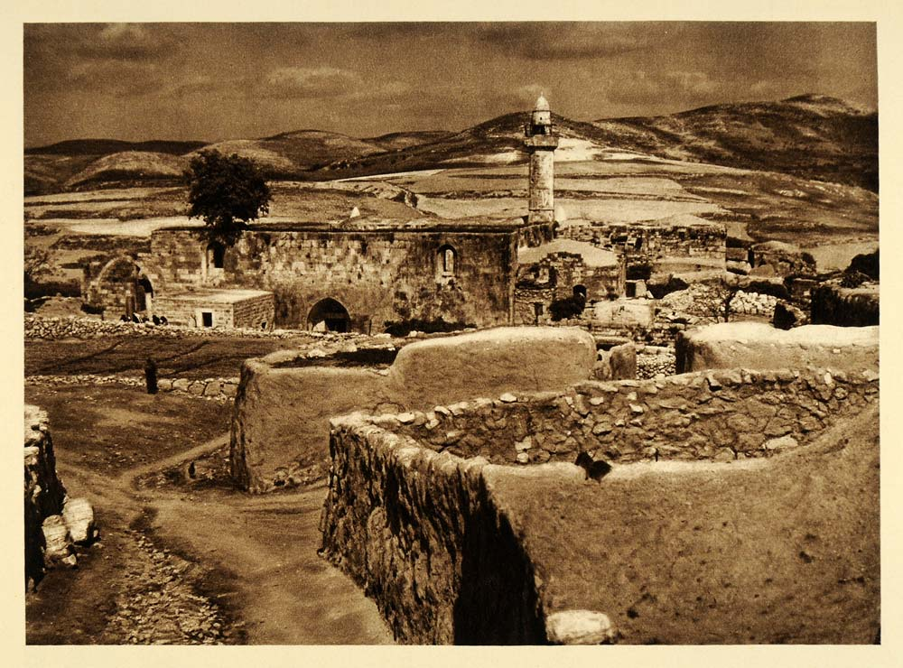 1925 Samaria Israel West Bank Palestine Photogravure - ORIGINAL PHOTOGRAVURE PS5