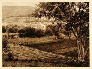 1925 Nablus Nabulus West Bank Palestine Photogravure - ORIGINAL PHOTOGRAVURE PS6 - Period Paper