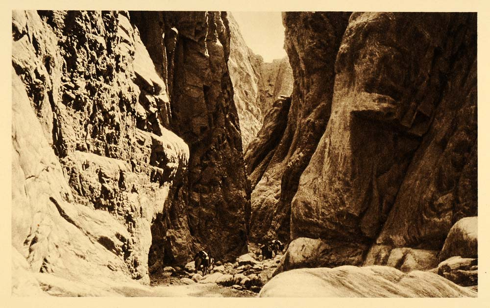 1925 Mount Sinai Peninsula Jebel Musa Path Photogravure - ORIGINAL PS6