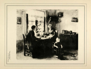 c1930 Print Paramount Noonday Meal L. Van der Tonge - ORIGINAL HISTORIC PT1