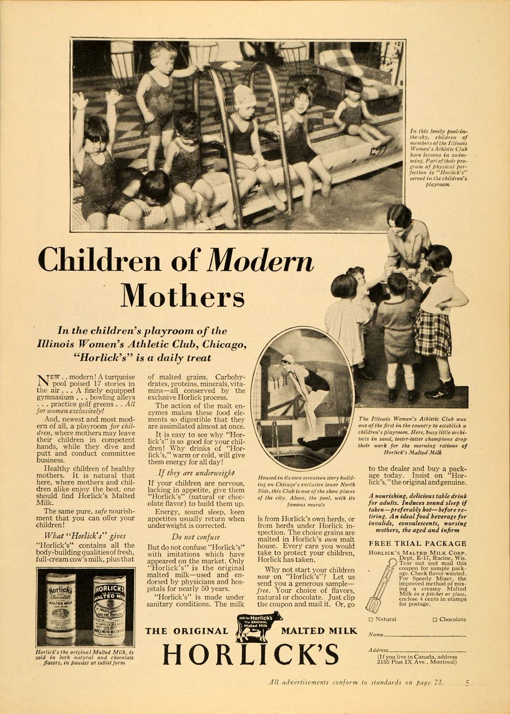 1929 Vintage Ad Horlicks Malted Milk Health Food Racine - ORIGINAL PTS1