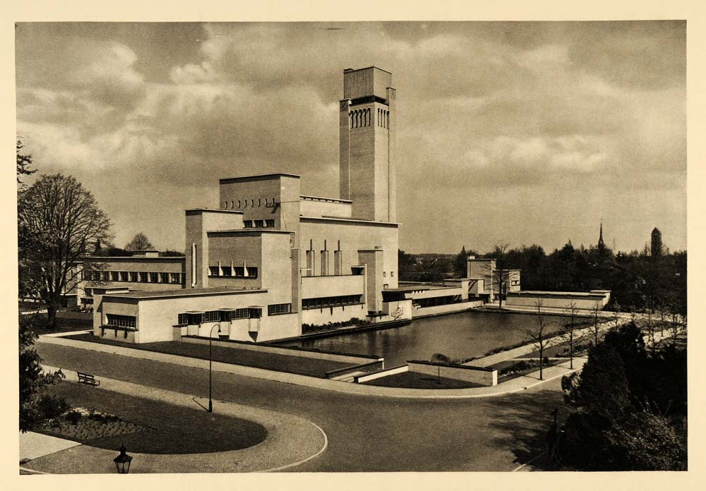 1935 Raadhuis Town Hall Hilversum Netherlands Holland - ORIGINAL PTW2