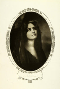 1908 Print Broadway Musical Comedy Stage Actress Marion Longfellow Portrait RB1