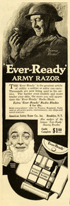 1918 Ad Ever-Ready Army Razor World War I American Safety Blades WWI RCM1