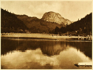 1932 Red Lake Lacul Rosu Romania Landscape Photogravure - ORIGINAL RM3