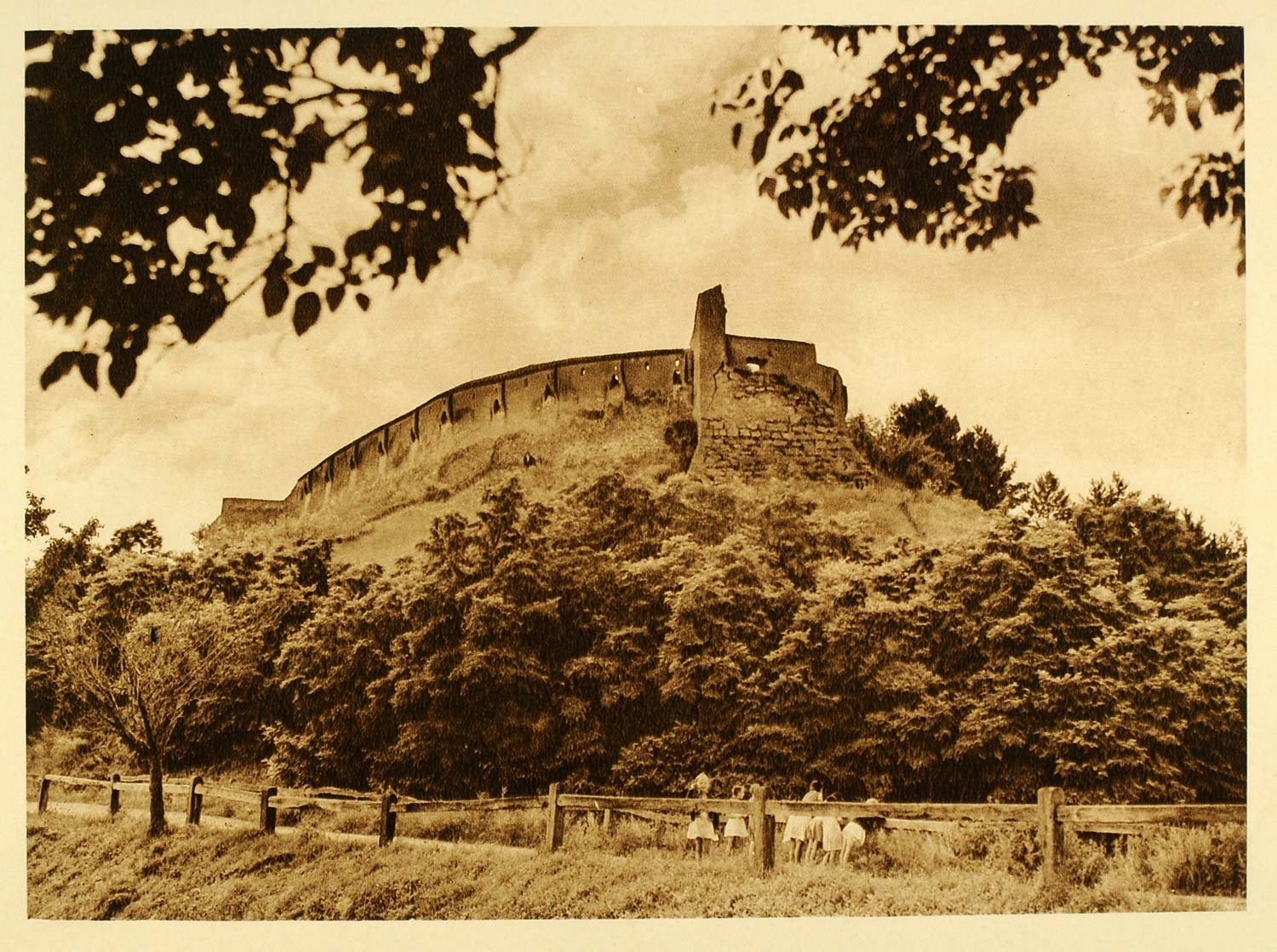 1932 Romania Castle Fort Razboieni Cetatea Photogravure - ORIGINAL RM3