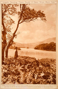 1923 Rotogravure Lough Leane Lakes of Killarney County Kerry Ireland Landscape