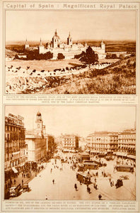 1923 Rotogravure Spain El Escorial Royal Palace Puerto del Sol Madrid Historic