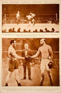 1923 Rotogravure Boxing James J. Jeffries Bob Fitzsimmons Heavyweight Bout Match