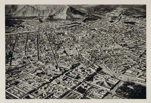 1931 Bird's Eye View Lima Peru Photogravure VERY NICE - ORIGINAL SA2