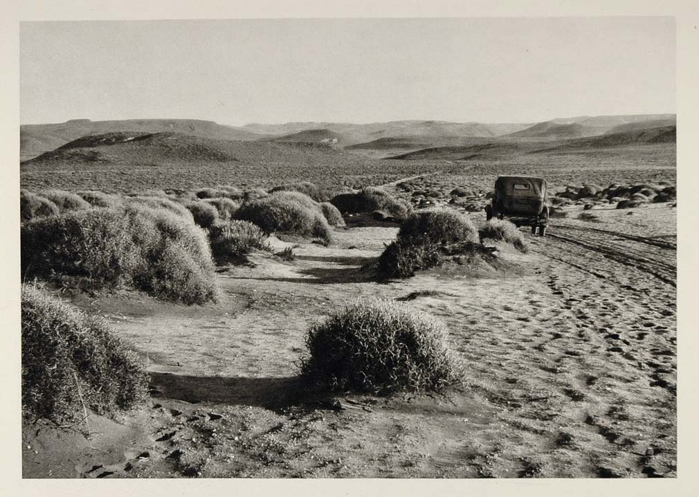 1931 Pampas Paso de los Molles Car Dirt Road Argentina - ORIGINAL SA2