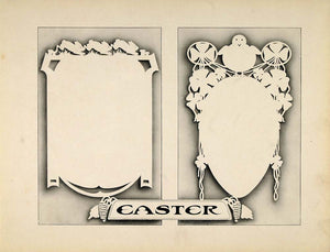 1910 Print Graphic Design Template Easter Egg Chick - ORIGINAL SB1