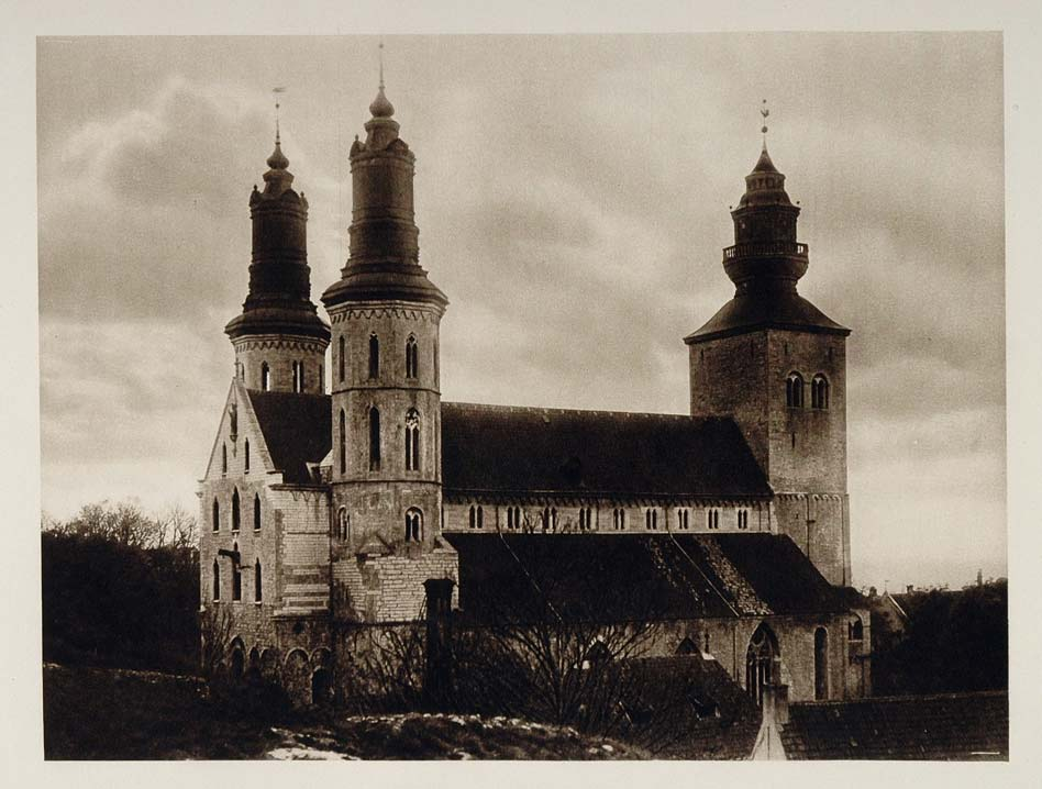 1924 St. Mary's Cathedral Visby Gotland Island Sweden - ORIGINAL SC1