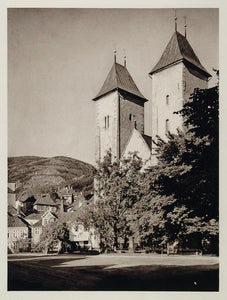 1930 St. Mary's Church Mariekirke Bergen Norway Norge - ORIGINAL SC2