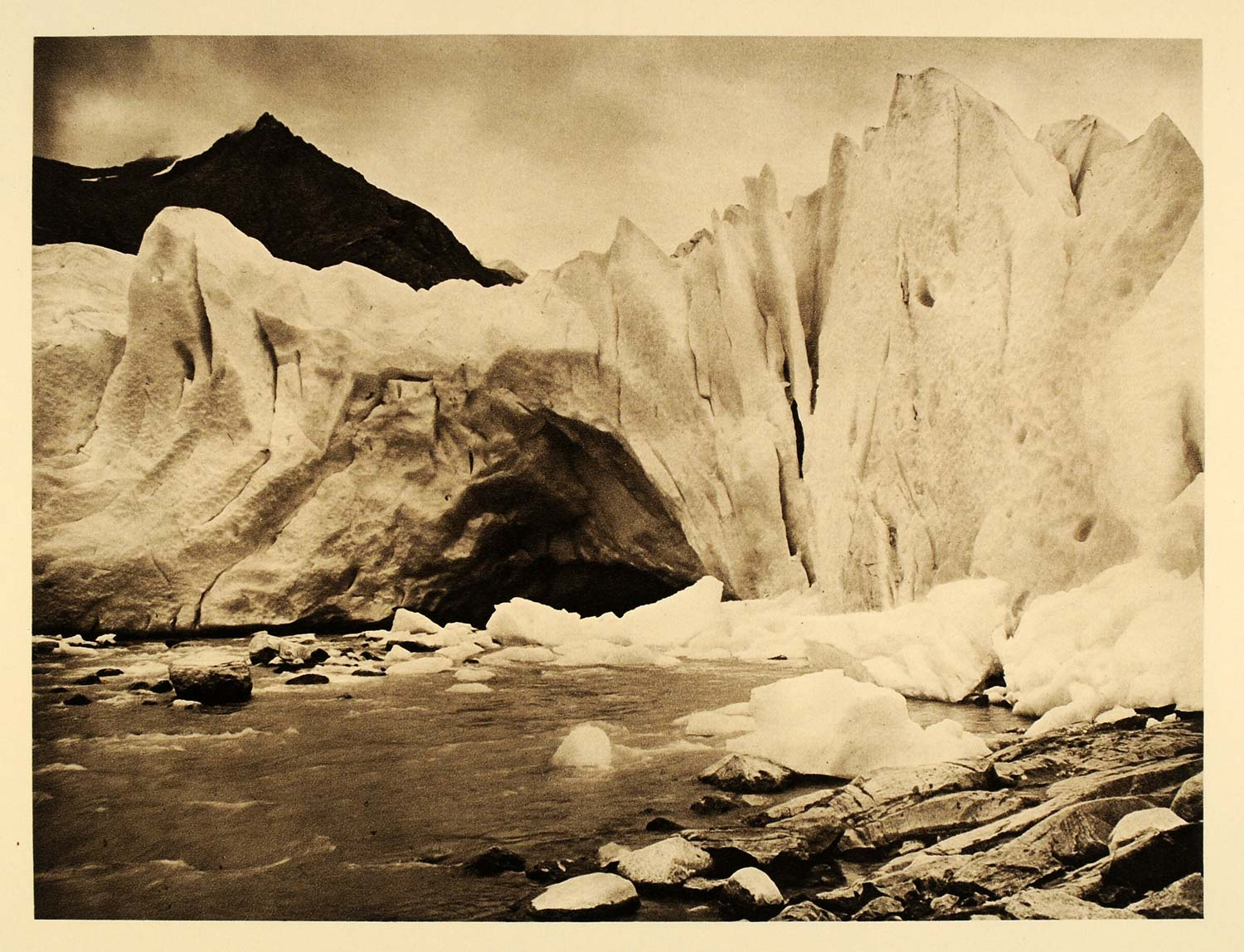 1932 Svartisen Glacier Breen Kalver Norway Norge - ORIGINAL PHOTOGRAVURE SC3