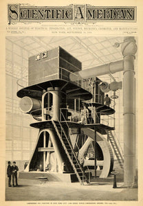 1899 Cover Scientific Air Compressing Machine New York - ORIGINAL SCA1 - Period Paper