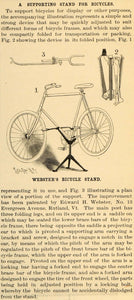 1899 Article Bicycle Supporting Stand Edward H Webster - ORIGINAL SCA2