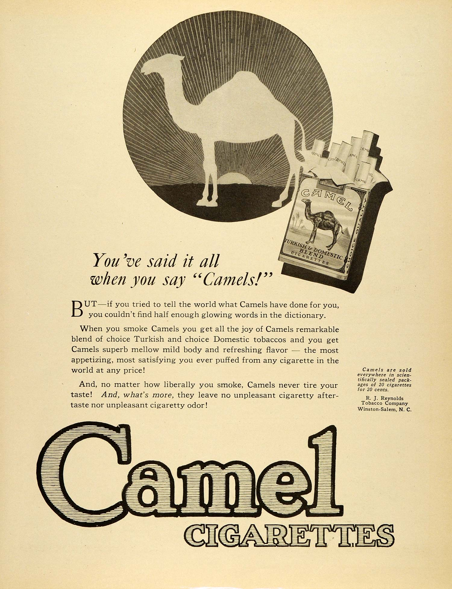 1920 ad north carolina winston salem cigarettes camels r j 1920 ad north carolina winston salem cigarettes camels r j reynolds tobacco sca3 sciox Image collections